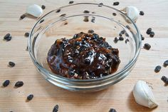 Black Bean Sauce - Most commercial versions use regular soy sauce with wheat, and/or MSG.  This is an easy way to make it gluten and MSG-free, since you can use your own soy sauce.  I am so ridiculously excited to try making this!