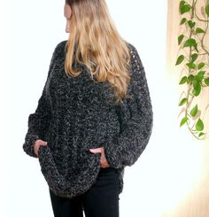 Oversized loose knit sweater Long sleeves turtleneck unisex Plus size dress Hand-knitted tunic Kidmohair Kid mohair Kid-mohair Angora Wool