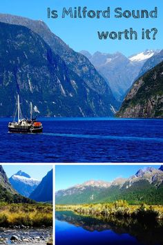 """We break down the question """"is Milford Sound worth it?"""" examining the time, drive, cost, and going with a group tour to this top rated NZ destination Travel Around The World, Around The Worlds, North Island New Zealand, Milford Sound, Beautiful Places To Visit, Amazing Places, New Zealand Travel, Australia Travel, Solo Travel"""