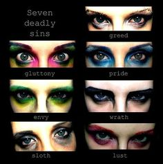 7 deadly sins inspired eye makeup