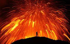 En el interior del volcán