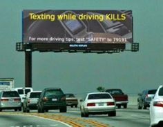 "Texting while driving KILLS  For more driving tips, text ""SAFETY"" to ...  11 bilder som bevisar att slumpen existerar"