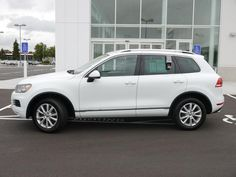 Used 2014 Volkswagen Touareg For Sale in Brooklyn Center MN at Luther Brookdale Volkswagen dealership. White SUV for sale. Used SUV for sale. CPO VW for sale. Used VW for sale. Minnesota. Anoka. Coon Rapids. Minneapolis. Brooklyn Center. >> Click the photo to learn more about this 2014 Touareg for sale.