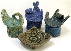 soap dishes...although using them for jewelry would be neat!