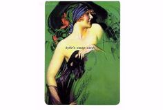 SINGLE swap playing cards ART DECO style lady girl MASQUERADE PARTY