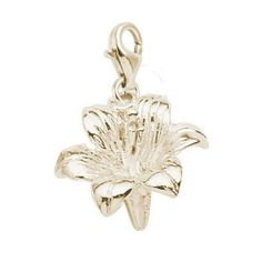 Rembrandt Charms Lily Charm With Lobster Clasp Gold Plated Silver 34 50