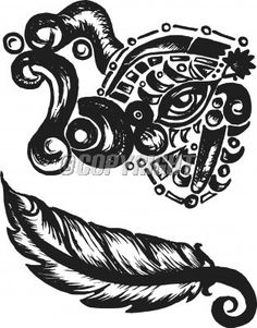 feather doodle