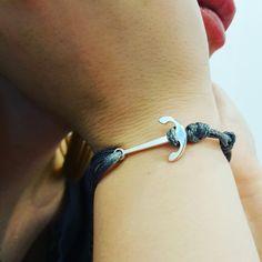Anchor bracelet string jewelry jewellery by ilo polish designer kotwica bransoletka z grawerem