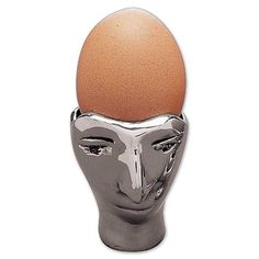 egg cups | egg cup head from carrol boyes egg server made of