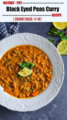 Instant Pot Black Eyed Peas Curry using Coconut Milk Pizza Recipes, Healthy Recipes, Recipes Dinner, Delicious Recipes, Savoury Recipes, Entree Recipes, Drink Recipes, Healthy Meals, Yummy Food