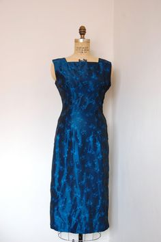 ☆New Listing☆ Vintage 1960s Blue Hawaii Wiggle Dress // by TrunkofDresses