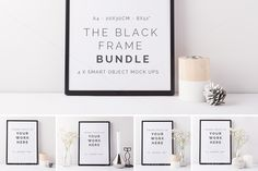 BUNDLE - 4 x styled frame mock ups by White Hart Design Co. on Creative Market