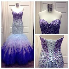 The Perfect Prom Dress 2015 Ombre Prom Dresses Real Pictures Vestidos De Fiesta Sweetheart Neck Beaded Crystals Sequins Tulle Mermaid Prom Gowns With Lace Up Uk Prom Dresses From Nicedressonline, $296.39  Dhgate.Com