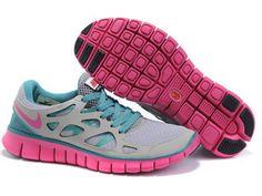 Billige Nike Free Run 2 for Herre Sko Crimson Grå Himmel Blå 548.84kr