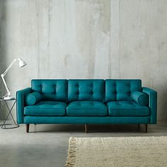 The new teal Copenhagen sofa is one of my faves