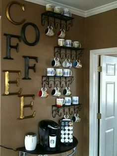 I love this so much. I really want to collect coffee mugs. This would be the perfect way to display them