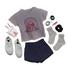 """""""late nights alone"""" by dahmergirl ❤ liked on Polyvore featuring Retrò, Bensimon and Chapstick"""