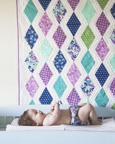 Cascade Quilt Pattern in Hello Jane Fabrics - fat quarter plus white