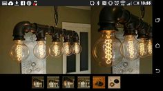 Industrial eddison bulb iron pipe light ebay