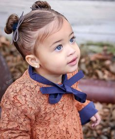 All the Fall feels before Winter starts tomorrow. Baby Girl Hairstyles, Cute Hairstyles, Beautiful Children, Beautiful Babies, Cute Kids, Cute Babies, Mixed Babies, Toddler Hair, My Girl