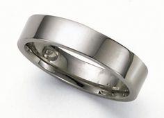 Flat Platinum Wedding Band Ring - 5mm Jewelry $1,725.00