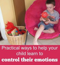 Helping your child learn to control their emotions is so important! Create a cool-down area in your home gives them the tools they need to control their emotions. #parentingskills