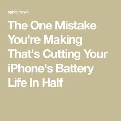 The One Mistake You're Making That's Cutting Your iPhone's Battery Life In Half — SHEfinds Cell Phone Hacks, Iphone Life Hacks, Group Facetime, Iphone Information, Iphone Secrets, Ipad Hacks, Computer Internet, Computer Tips, Tips