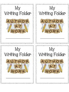 FREE Colorful label for any writing folder!