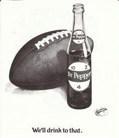 Vintage Dr. Pepper ad from Baylor football program.