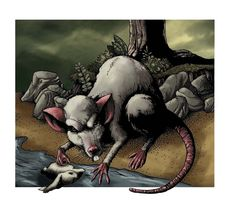 Lavellan- Scottish myth/cryptid: a large rat or shrew that was extremely poisonous. It was so poisonous it could injure cattle from 100 feet away. It is the most poisonous of all the monsters.
