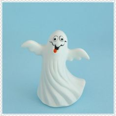 Cute Ghost Figurine Vintage Collectible by RaindropVintageShop