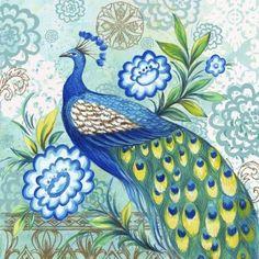 Medium - Peacock fabric by RJR