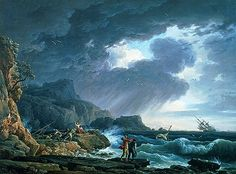 Claude Joseph Vernet - A Seastorm