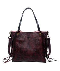 Loving this Rusty Red Leather Daisy Tote on #zulily! #zulilyfinds