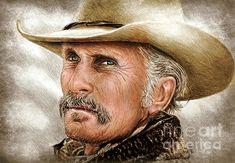Augustus McCrae Texas Ranger by Andrew Read Robert Duvall, Cowboy Art, Texas Rangers, Lee Jeffries, Moustache, Actors, Art Prints, Drawings, Cowboys