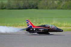 British Hawk very low pass