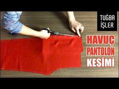 Pratik Havuç Pantolon Kesimi (KENDİN YAP) | Tuğba İşler - YouTube Sewing Pants, Sewing Patterns, Lily, Homemade, Stitch, Youtube, Blog, Fashion, Dress Template