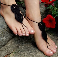 Barefoot Sandals Beach Shoes Wedding Accessories by luludress