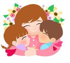 Clip art of a bouquet of lovely flowers wrapped with kisses and a fancy ribbon as gifts for mom on Mothers Day. Description from dailyclipart.net. I searched for this on bing.com/images