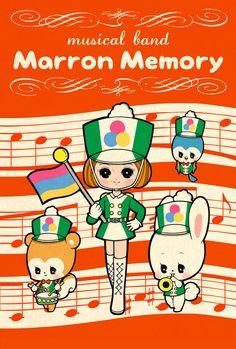 Manga Drawing Patterns Musical-band by marron-nagao - Pretty Art, Cute Art, Vintage Japanese, Japanese Art, Pochacco, Kawaii Illustration, Japanese Poster, Kawaii Art, Cute Images