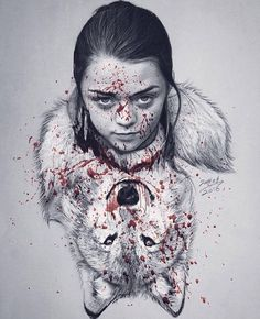 HouseWolf. #stark #Arya #aryastark #wolf #housestark #gameofthrones #got #winteriscoming #mrofi #justahuman #favourite #love #justahuman #art #amazing #natural #animals #nature