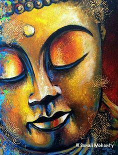 Golden Radiance Art Print by Sonali Mohanty. All prints are professionally printed, packaged, and shipped within 3 - 4 business days. Choose from multiple sizes and hundreds of frame and mat options. Buddha Face, Buddha Zen, Buddha Buddhism, Budha Art, Budha Painting, Buddha Drawing, Buddhist Art, Beautiful Paintings, Painting Inspiration