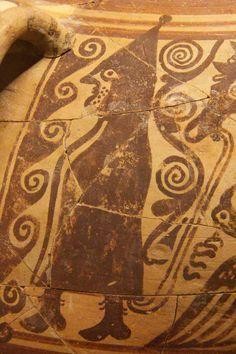 Detalle de cerámica procedente de la Alcudia (Elche).