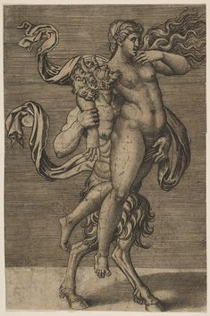 Satyr and Nymph Marco Dente (Italian, Ravenna, active by 1527 Rome) Designed by Giulio Romano (Italian, Rome Mantua) The Metropolitan Museum of Art Esoteric Art, Arte Obscura, Landsknecht, Illustration Art, Illustrations, Occult Art, Greek Art, Renaissance Art, Mythical Creatures