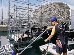 Sail Yacht Twizzle with 80% of her #yachtcontainment completed by @TechnoCraftsl www.technocraftsl.com #refit #marinescaffold #superyacht #luxury #palmademallorca