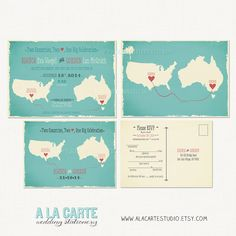 Two Countries, Two Hearts, One Big Celebration - Wedding Invitation and Fun  Mad Libs Style RSVP Cards on Etsy, $45.13 AUD