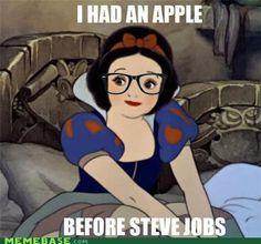 Hipster Snow White. Hahaha :) @Tara Minkus loves hipsters.