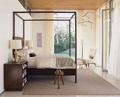 The #timelessdesign of #kerryjoyce #interiordesign on #hellolovelystudio #bedroom #threelegstool #tranquil #serene #white