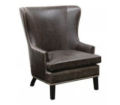 Classic Home Cordova Leather Club Chair in Chocolate Brown
