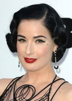 dita always with the perfect retro coif